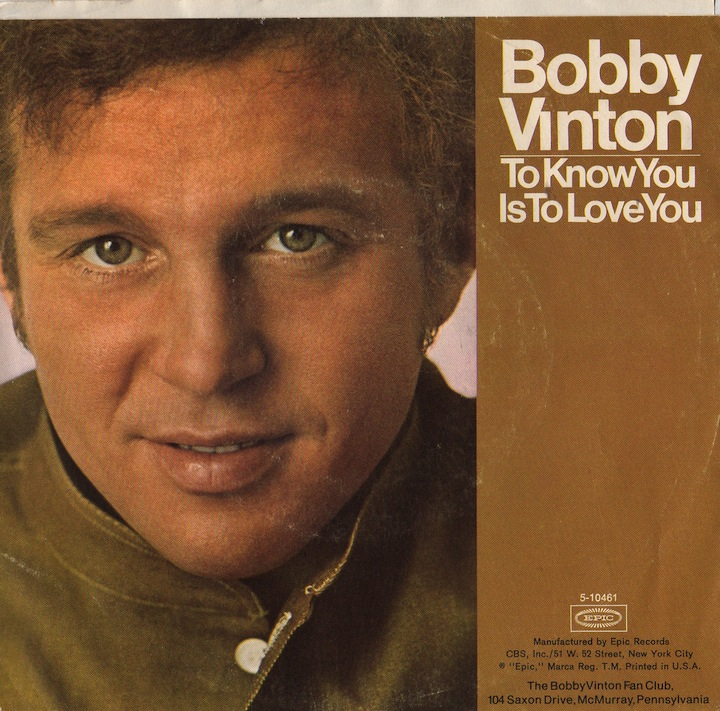 Image result for to know you is to love you bobby vinton images