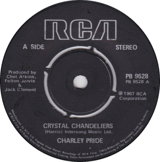 45cat Charley Pride Crystal Chandeliers Tonk Blues Rca Uk Pb 9528