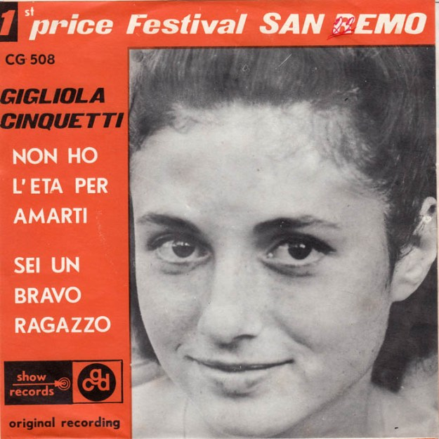 gigliola cinquetti non ho leta per amarti cgd internationale - Sanremo Story: gli anni 1963-1965