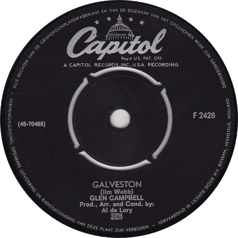 45cat  Glen Campbell  Galveston  How Come Every Time I