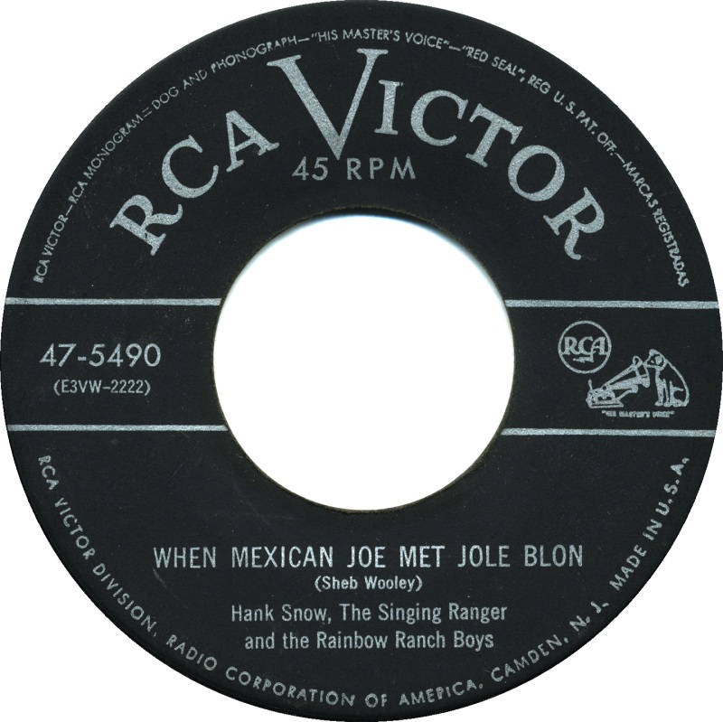 Image result for hank snow when mexican joe met jole blon