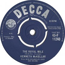 45cat - Kenneth McKellar - The Tartan / The Royal Mile - Decca - UK - F  11240
