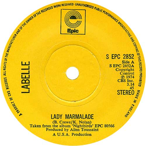 Image result for lady marmalade labelle
