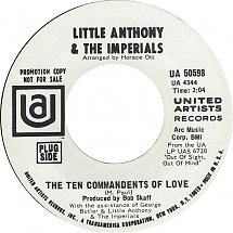 Image result for the ten commandments of love little anthony and the imperials single images