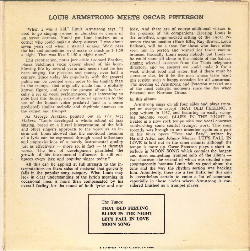 Oscar Louis Peterson Meets Armstrong