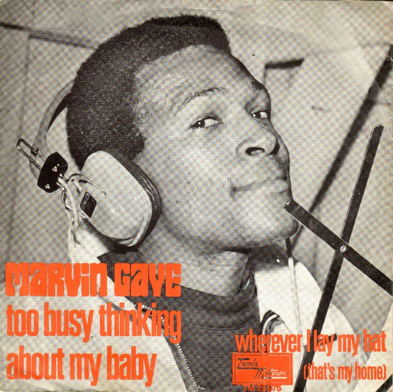 Image result for marvin gaye too busy thinking about my baby