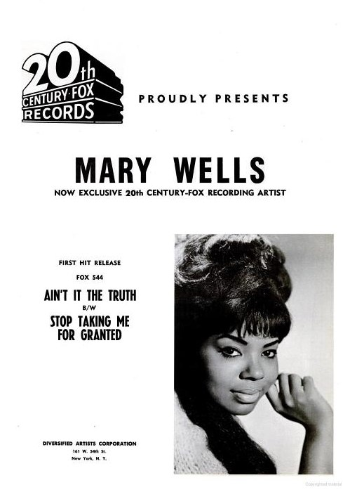 Image result for mary wells 1964