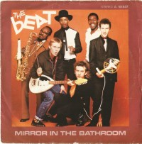 the english beat mirror in the bathroom