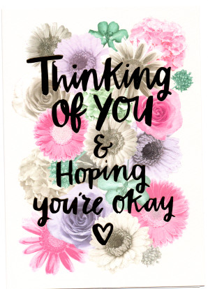 Greeting Cards Thinking Of You Amp Hoping Youre Okay