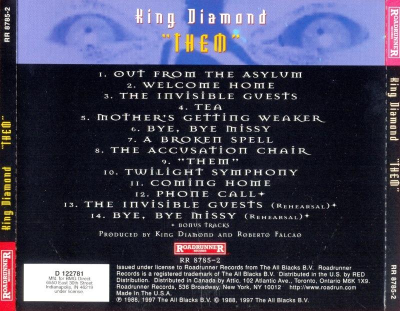 CD Album  King Diamond  Them  Roadrunner  USA