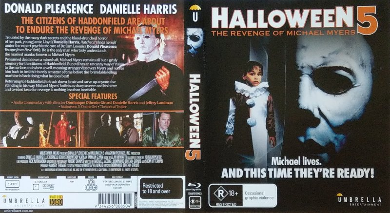 Check out the official halloween 4: Blu Ray Halloween 5 The Revenge Of Michael Myers Umbrella Entertainment Australia