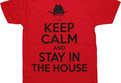 Walking Dead Carl Grimes Keep Calm And Stay In The House T Shirt Sheer