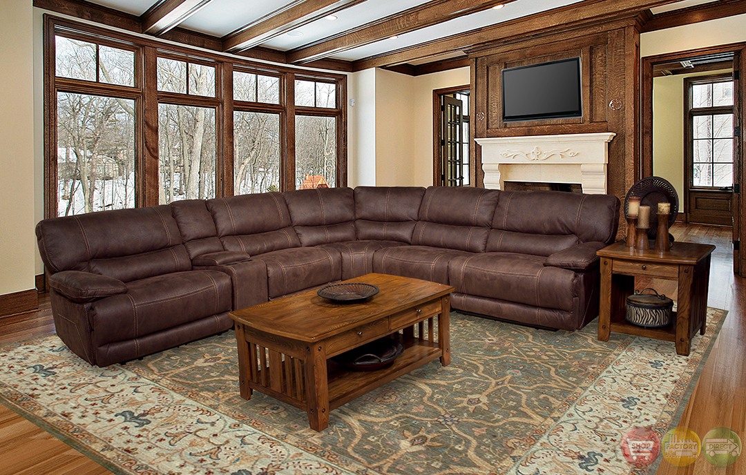 Parker Living Pegasus 6 Piece Brown Power Reclining Sectional Sofa & Microfiber Power Reclining Sectional Sofa | Aecagra.org islam-shia.org