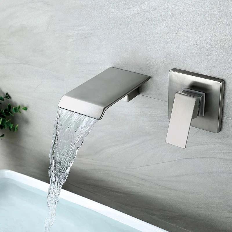 waterfall bathroom sink faucet wall mounted tub faucet 1 handle himylen