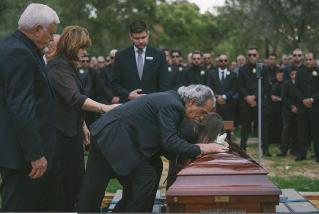 Heartbreaking scenes from Peppe's funeral.