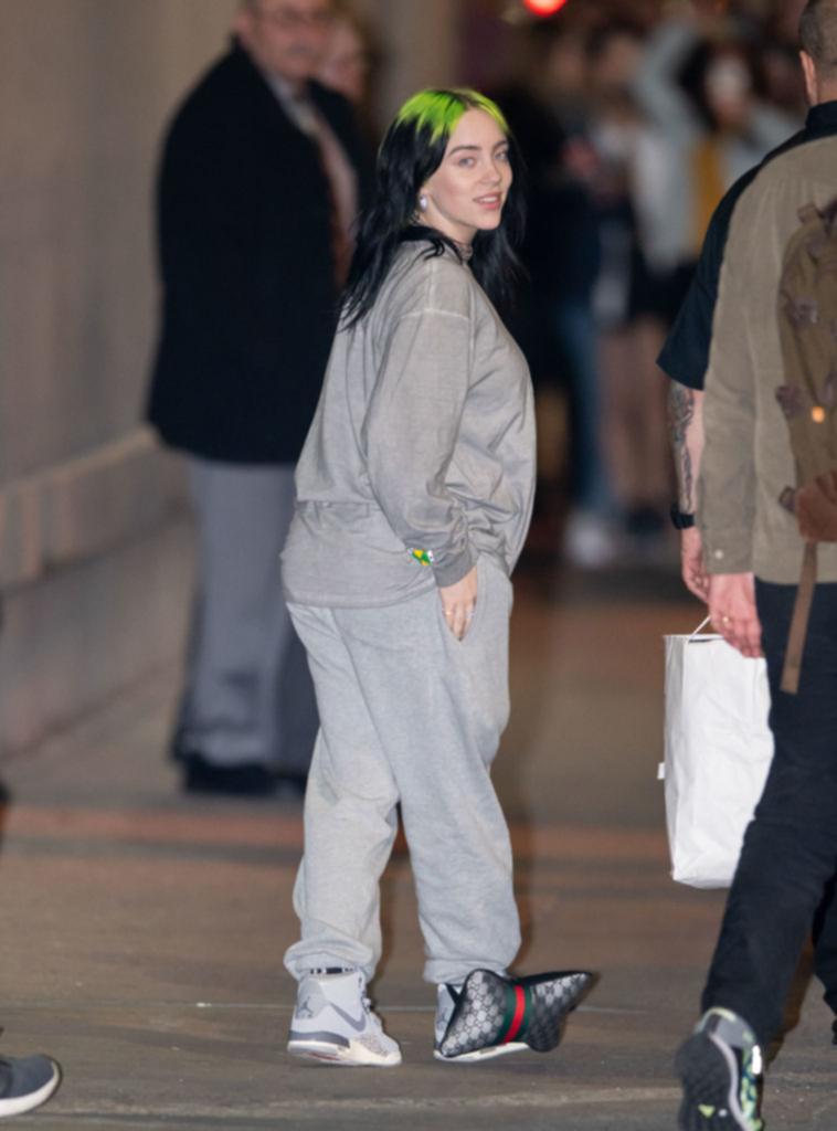 Eilish has worn loose clothing before.