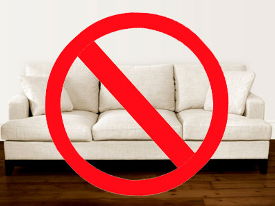 Say no to couches and yes to exercises