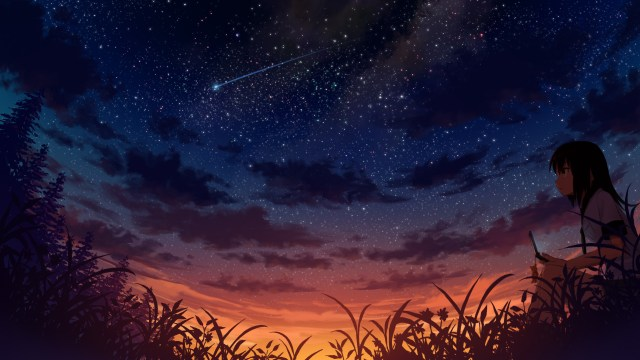 Nsfw Anime Girl Scenery Wallpaper 8tracks Radio A Beautiful Sunset Melt With The Stars