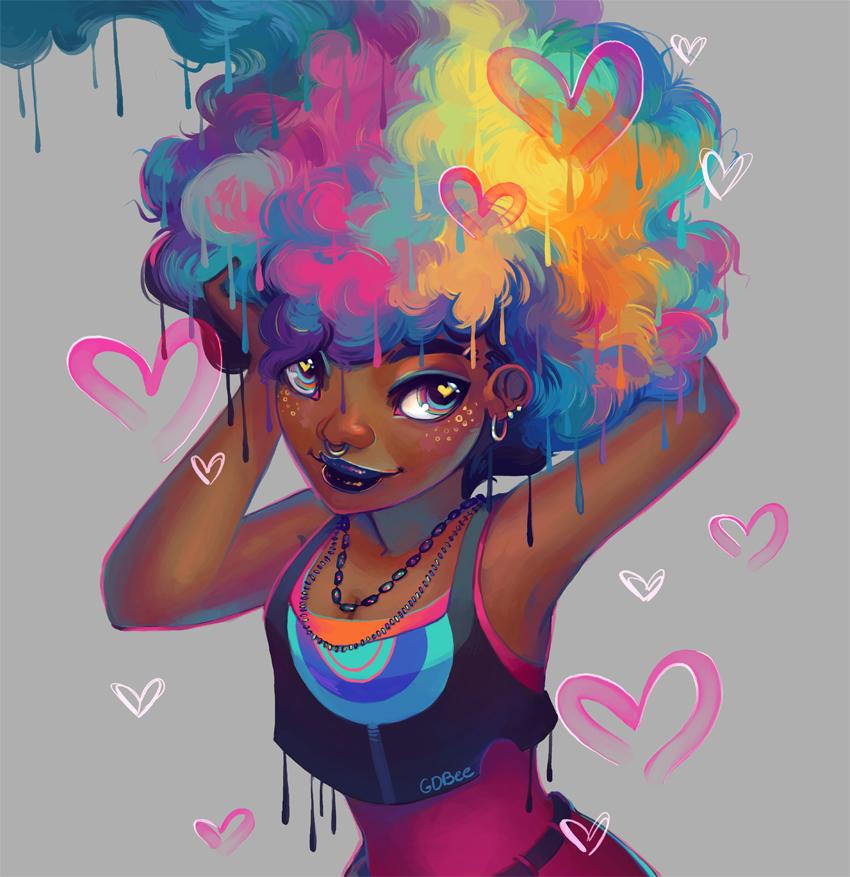 Black Magic Girls Cartoon Art