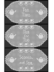 Tea Lovers Filet Doily - Electronic Download
