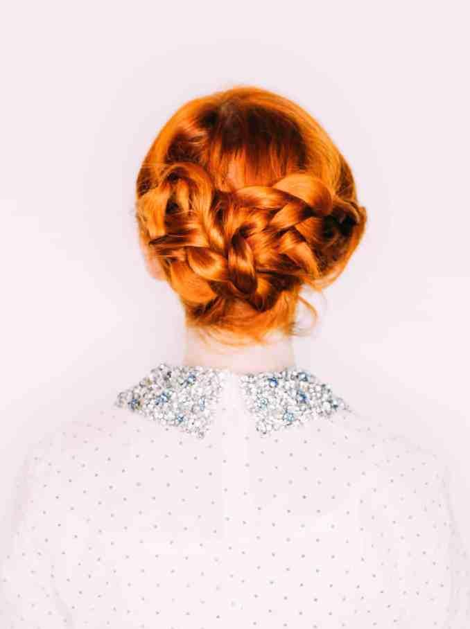 easy wedding hair— a triple braided updo - a beautiful mess