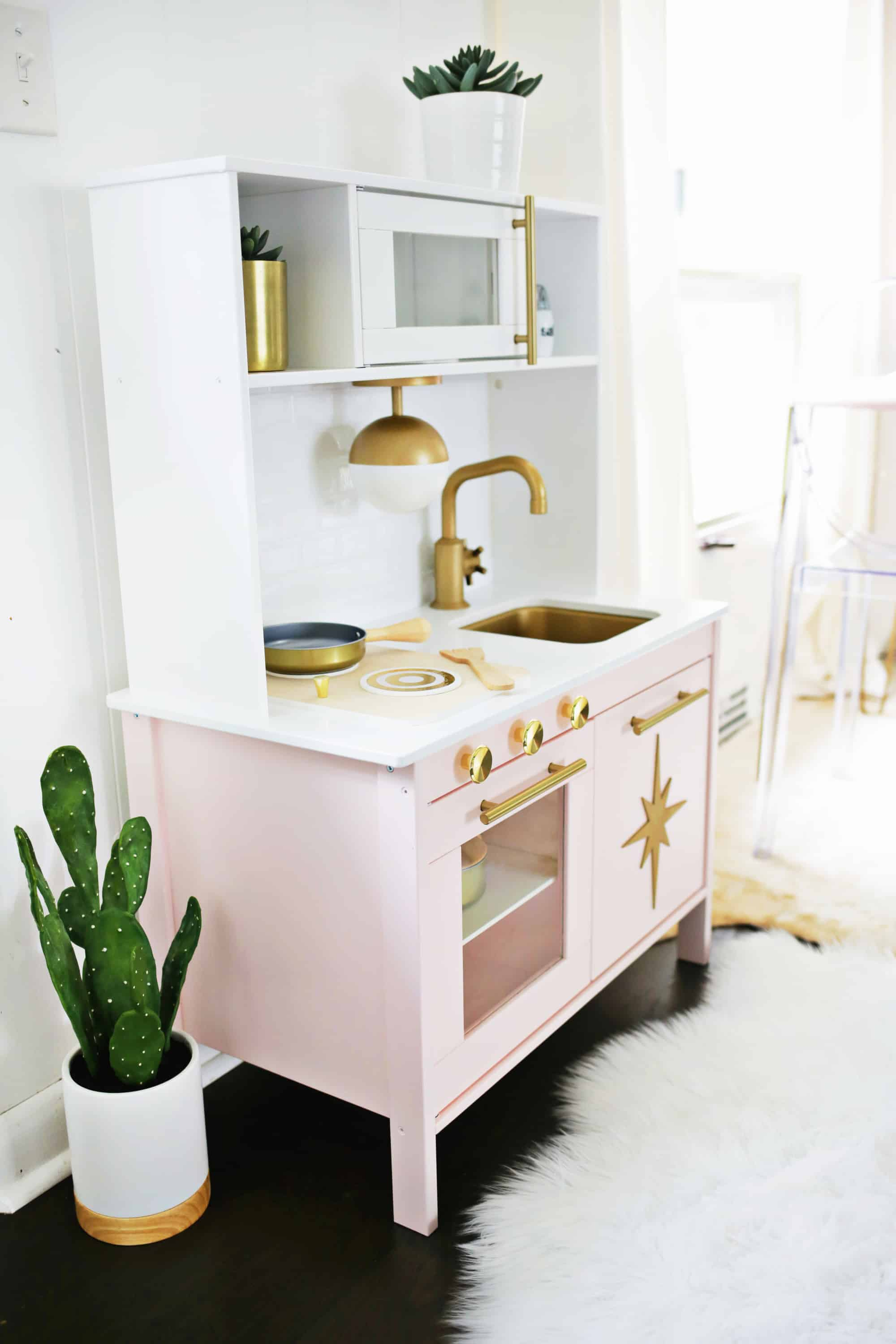 play kitchen ikea lights for mid century modern hack a beautiful mess omg it s juuuuust too much in the best possible way i love how totally fits with rest of our decor and looks so luxe as well