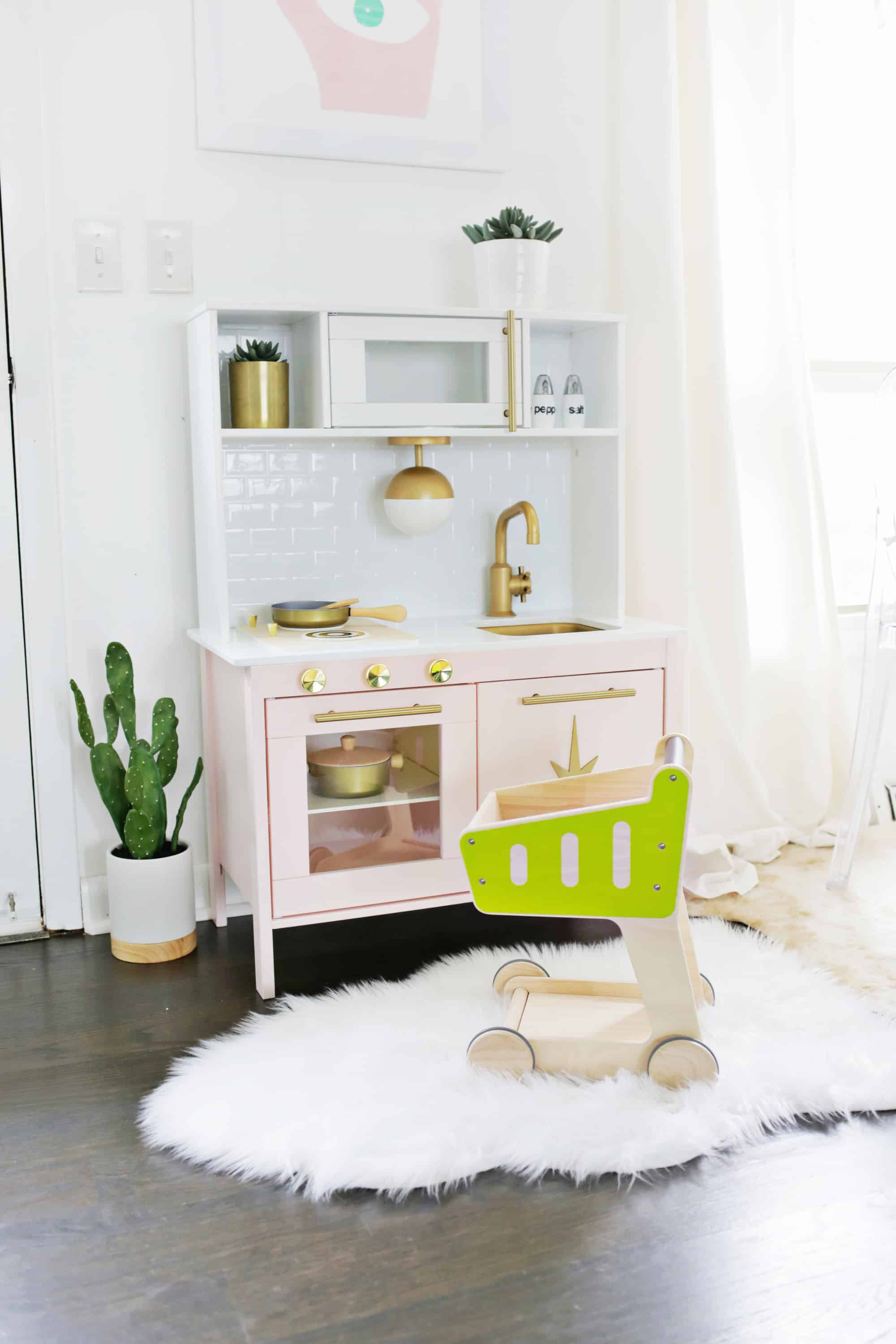 play kitchen ikea outdoor vent hood mid century modern hack a beautiful mess omg it s juuuuust too much in the best possible way i love how totally fits with rest of our decor and looks so luxe as well