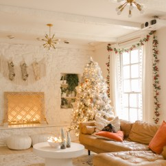 Beautiful Living Rooms At Christmas Modern Room Decor Images Elsie S Holiday Tour A Mess