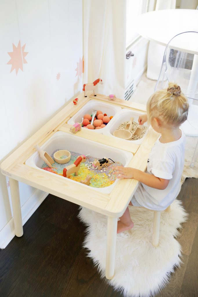 Easy Sensory Bin Table Setup For Kids A Beautiful Mess