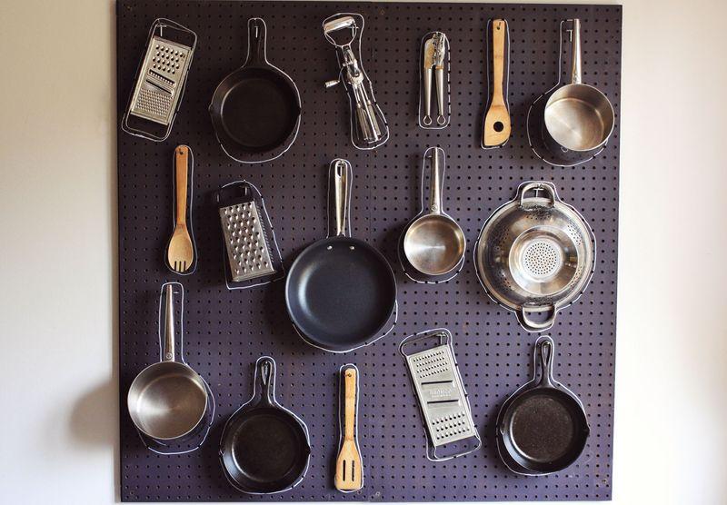 pegboard kitchen retro appliances diy a beautiful mess peg board