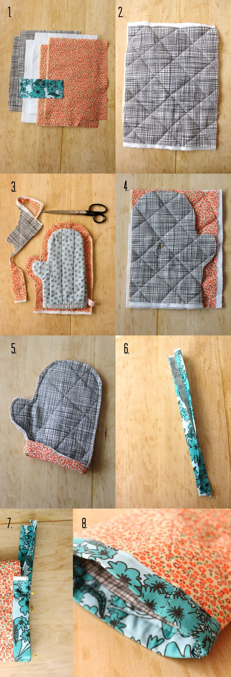 kitchen hot pads how to make your own cabinets oven mitt and pad diy a beautiful mess steps