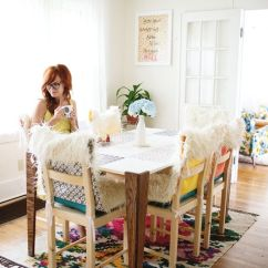 Faux Fur Chair Cover Garden Cushions Argos Diy Covers And A Beautiful Mess Click Through For Tutorial