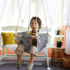 Swing Chair Baby Best Green Dining Room Chairs And Toddler Diy A Beautiful Mess