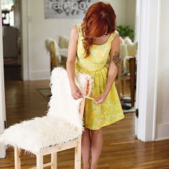 Chair Covers Diy Womb Replica Faux Fur And Cushions A Beautiful Mess Removable Click Through For