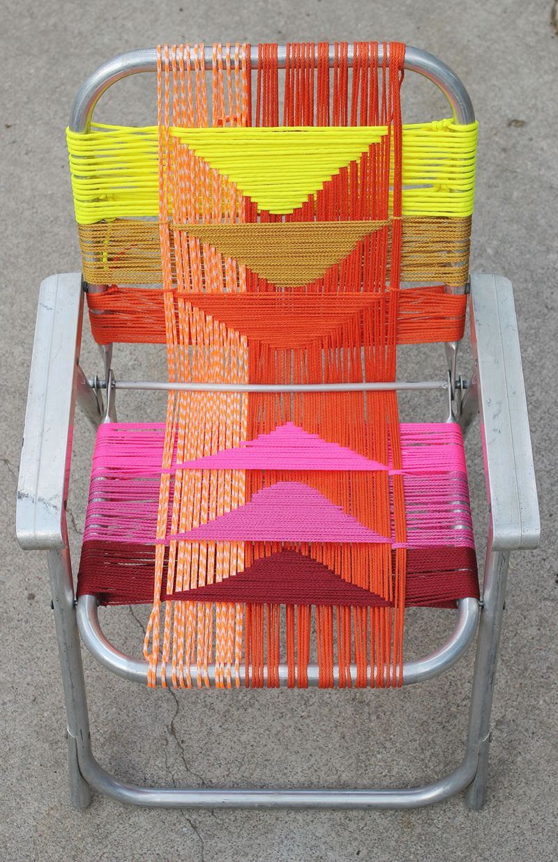 Woven Lawn Chair Aluminum Chair Makeover A Beautiful Mess