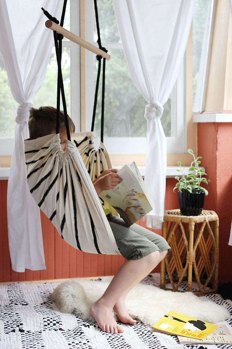 diy bedroom hammock chair kids desk and chairs a beautiful mess cozy reading reversible