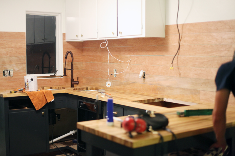 inexpensive backsplashes for kitchens lowes kitchen stoves how to make an plank backsplash a beautiful mess