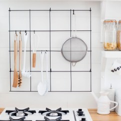 Kitchen Utensil Rack 6 Ft Island Diy Wire A Beautiful Mess Make With Items Found At The Hardware Store Click Through For