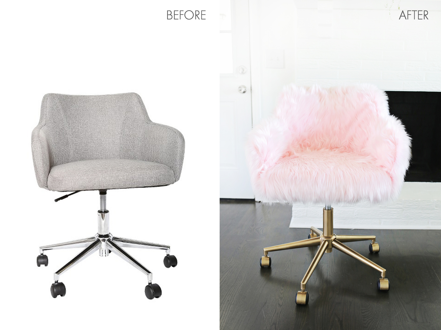 fun desk chairs high chair on wheels project restyle office makeover a beautiful mess so cute click through for tutorial