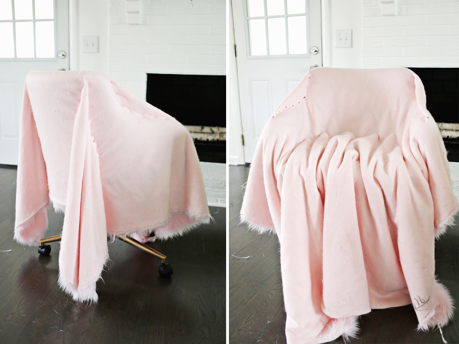desk chair diy baby vibrating argos project restyle office makeover a beautiful mess so cute click through for tutorial