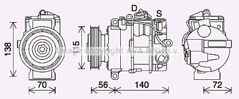 Auto Air Conditioning Compressor Replacement Ac Compressor