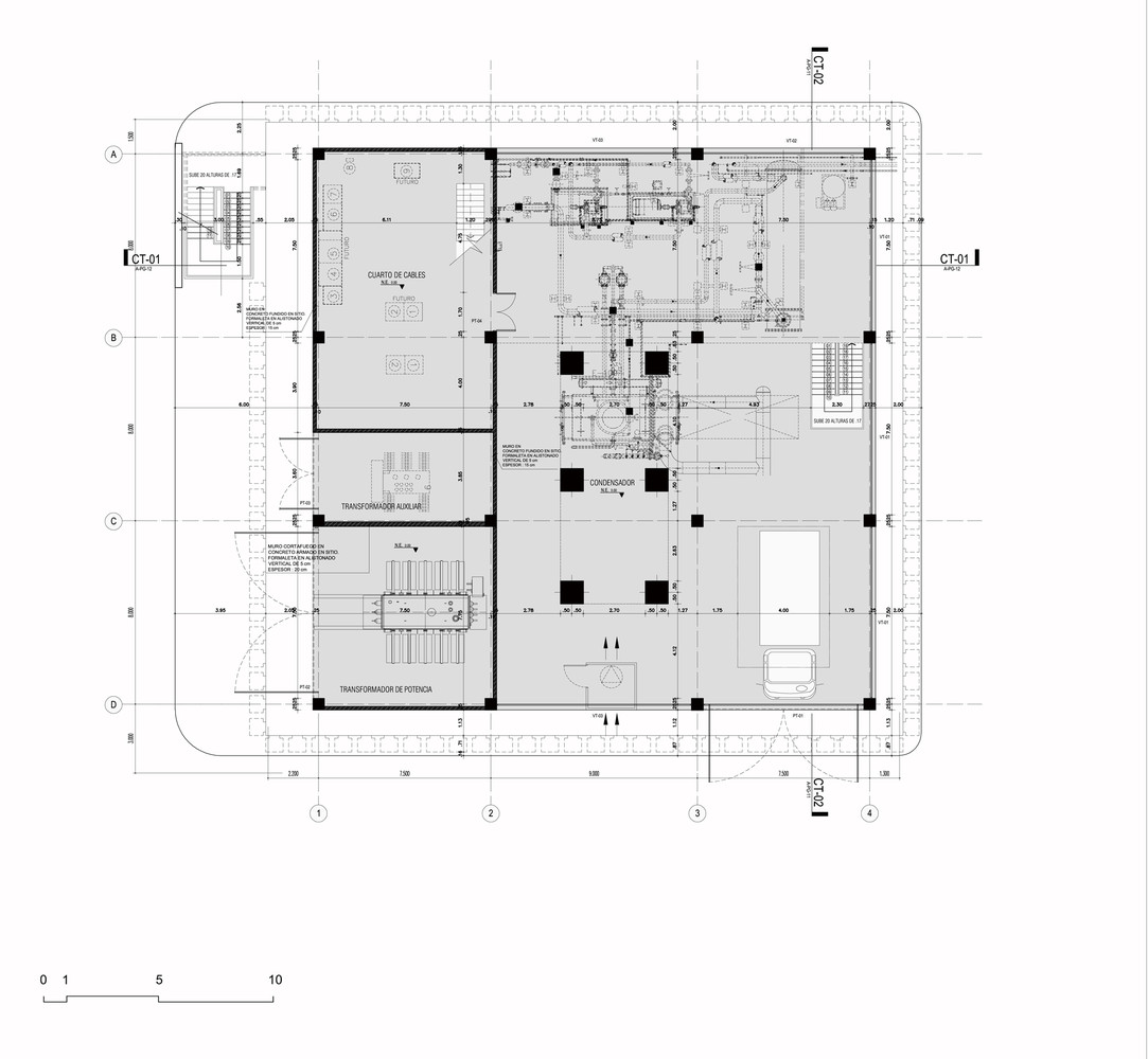 hight resolution of argos building for an electrical generator at a cement factory mgp arquitectura y urbanismo first floor plan