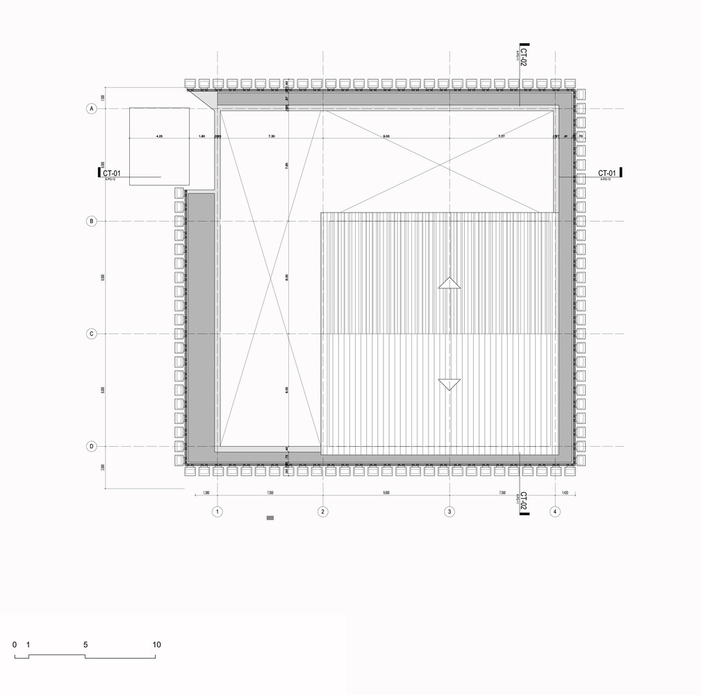 argos building for an electrical generator at a cement factory mgp arquitectura y urbanismo roof plan [ 1009 x 1000 Pixel ]