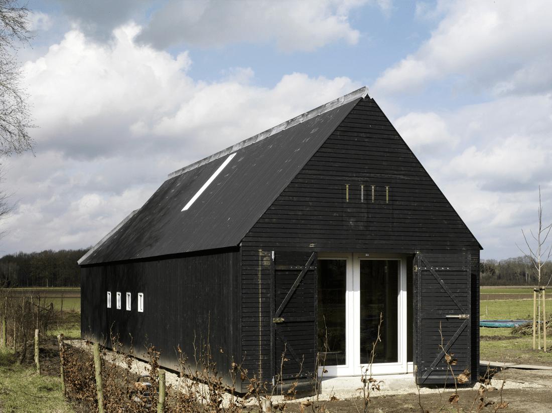 Black Modern Barn House