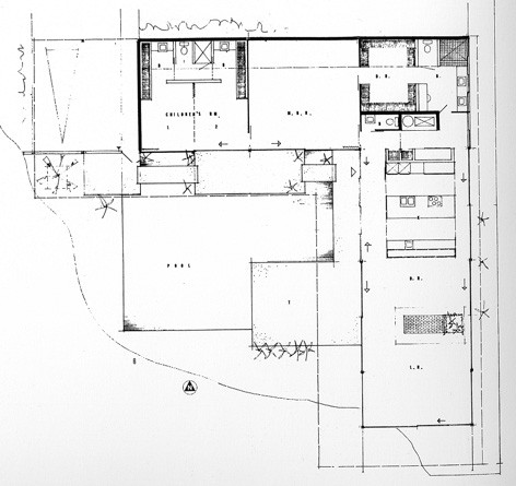 Stahl House Floor Plan