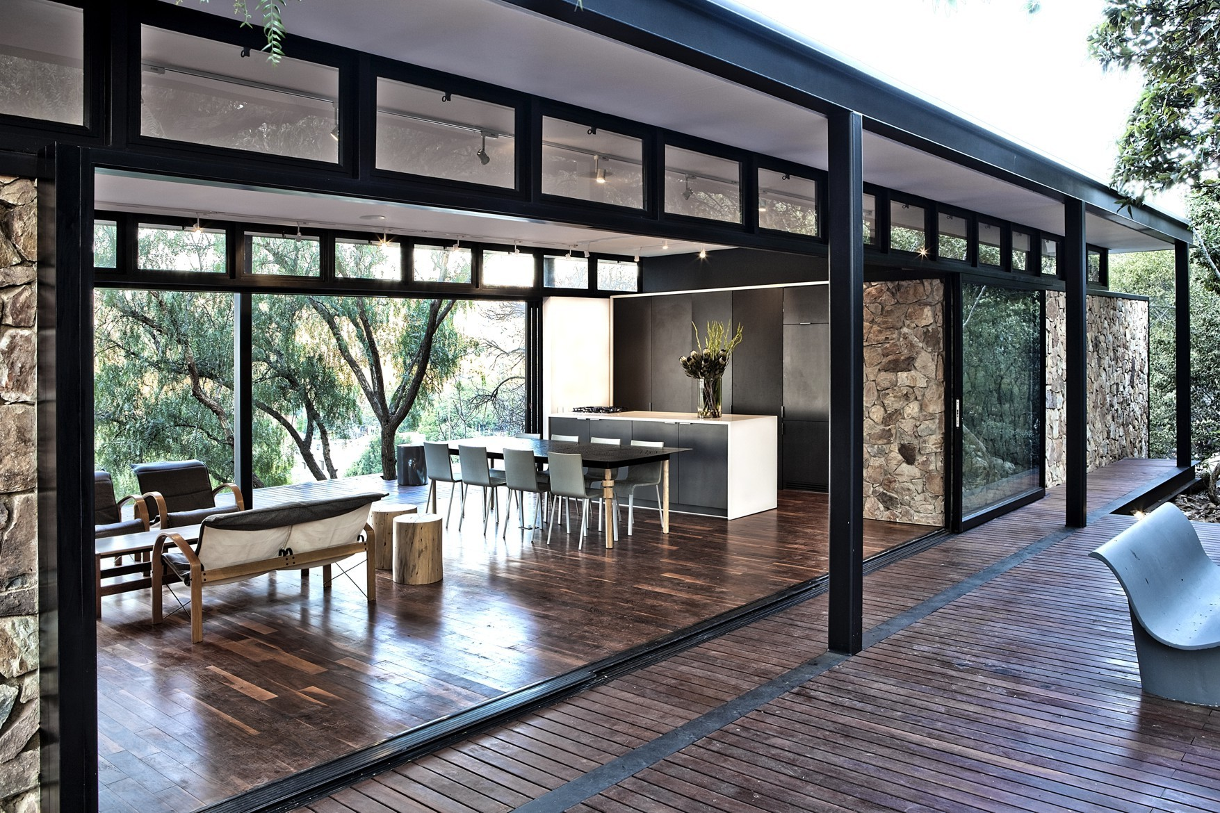 Steel and Glass Modern House Plans