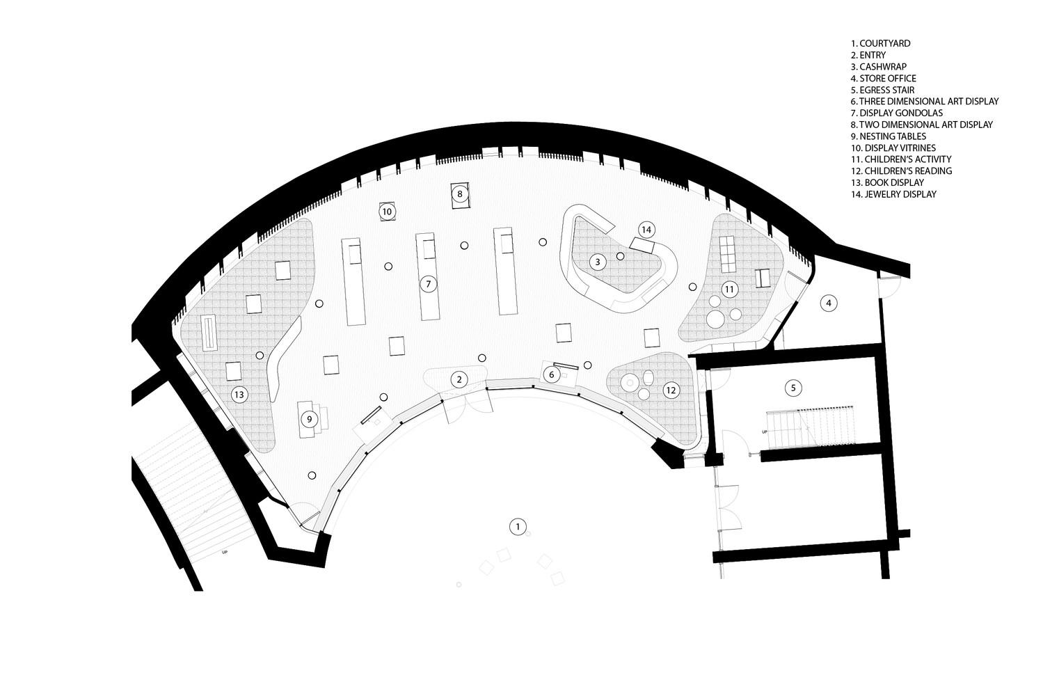 hight resolution of crystal bridges museum store marlon blackwell architect