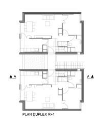 Duplex housing floor plans - House design plans