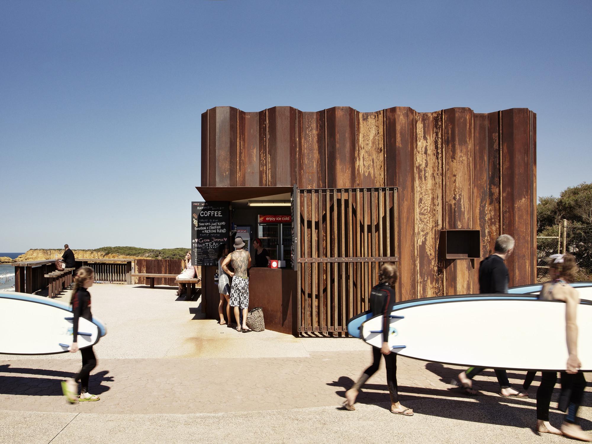 Wave Kiosk Tony Hobba Architects Archdaily