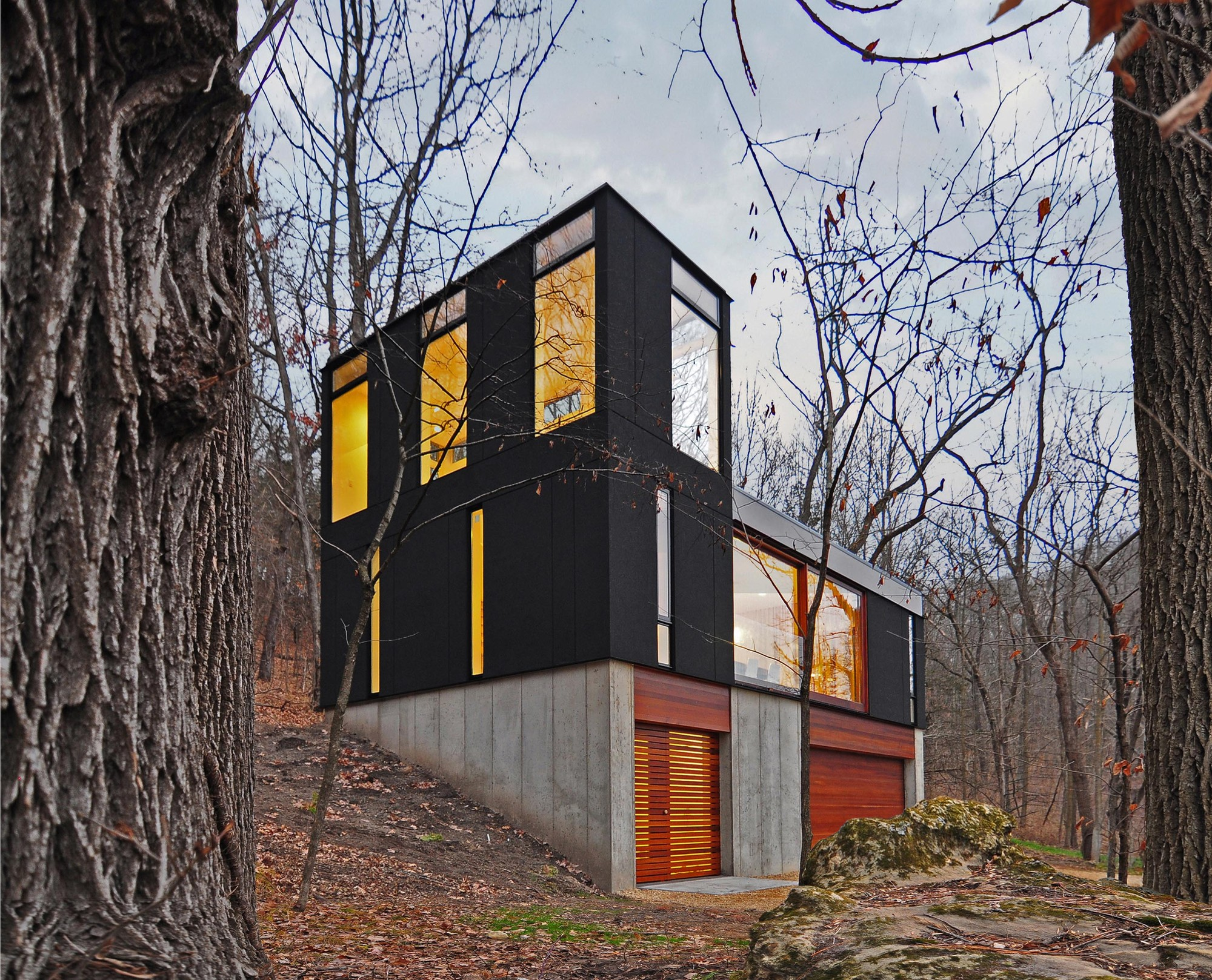 Stacked Cabin Johnsen Schmaling Architects Archdaily